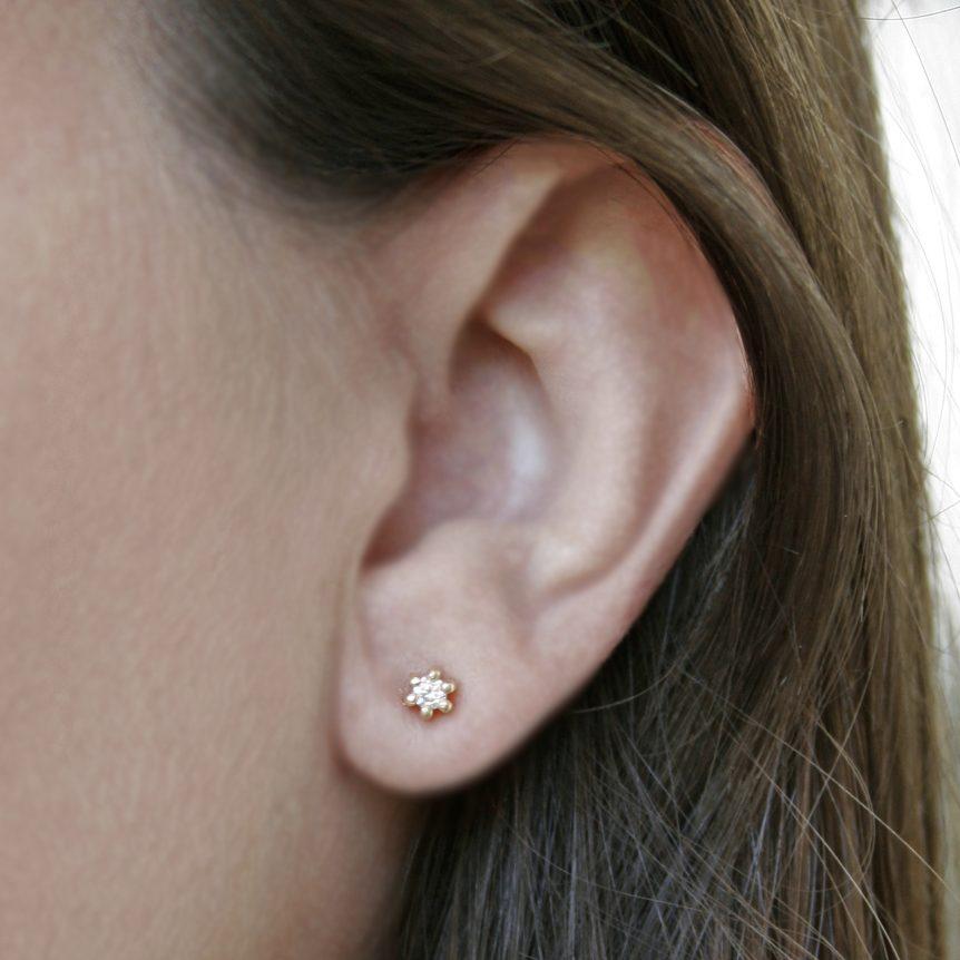 Spring Diamond Stud Earrings