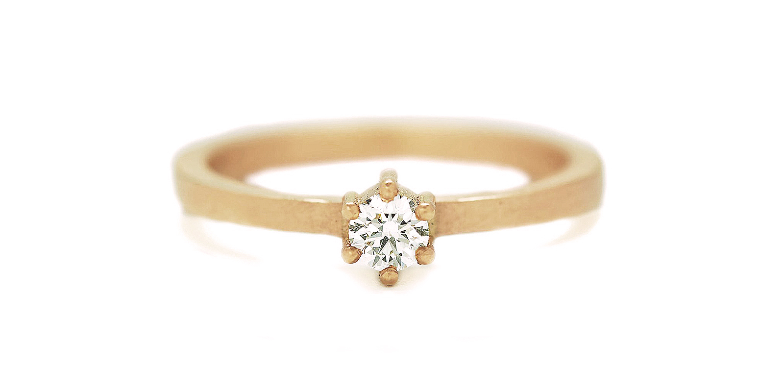 Kiss Diamond Engagement Ring .17ct