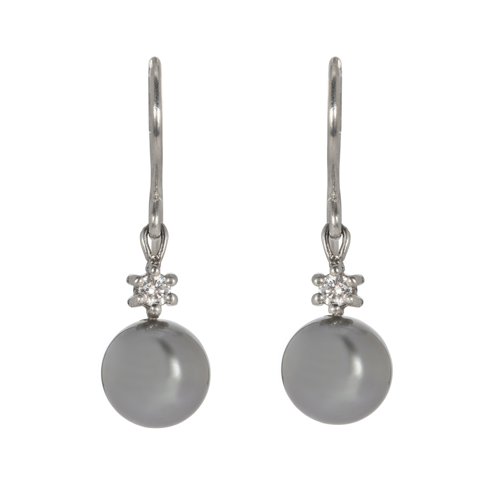 Dreamer Tahitian Pearl and Diamond Drop Earrings
