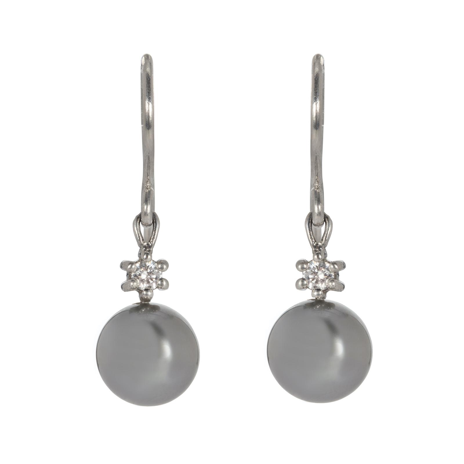Dreamer Tahitian Pearl and Diamond Drop Earrings