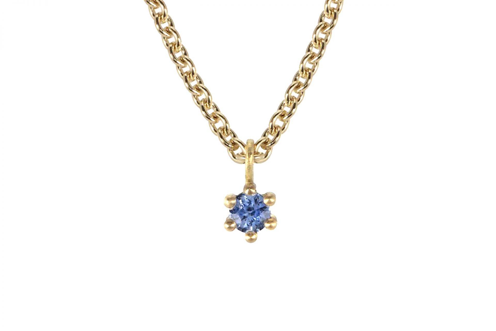 Spring Sapphire Pendant