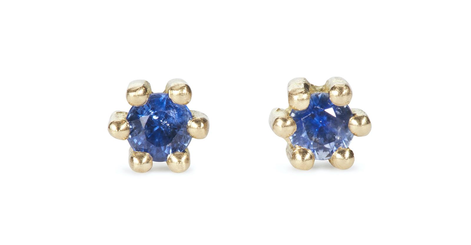 Spring Sapphire Stud Earrings