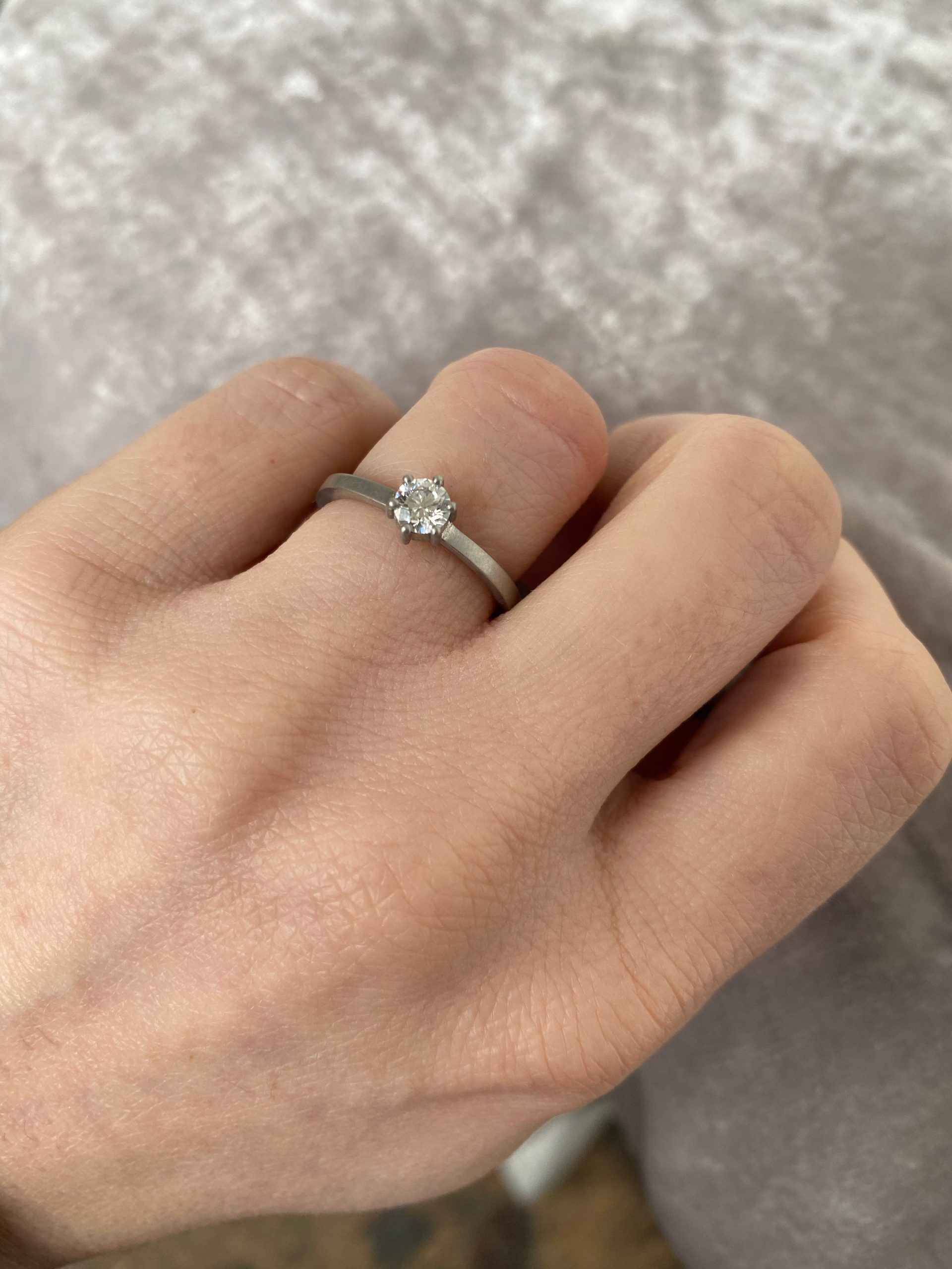Kiss Diamond Engagement Ring .36ct