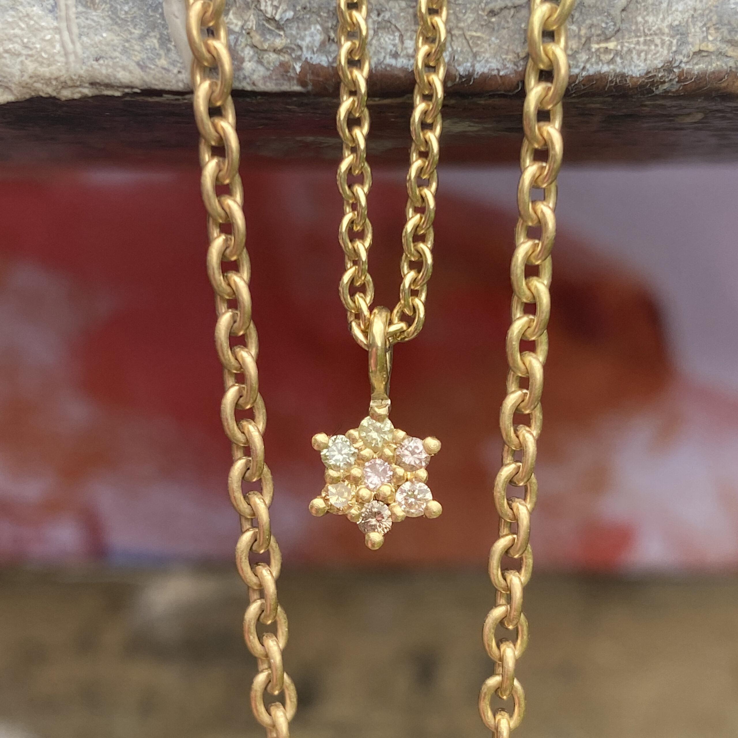 Dancing Star Diamond Pendant