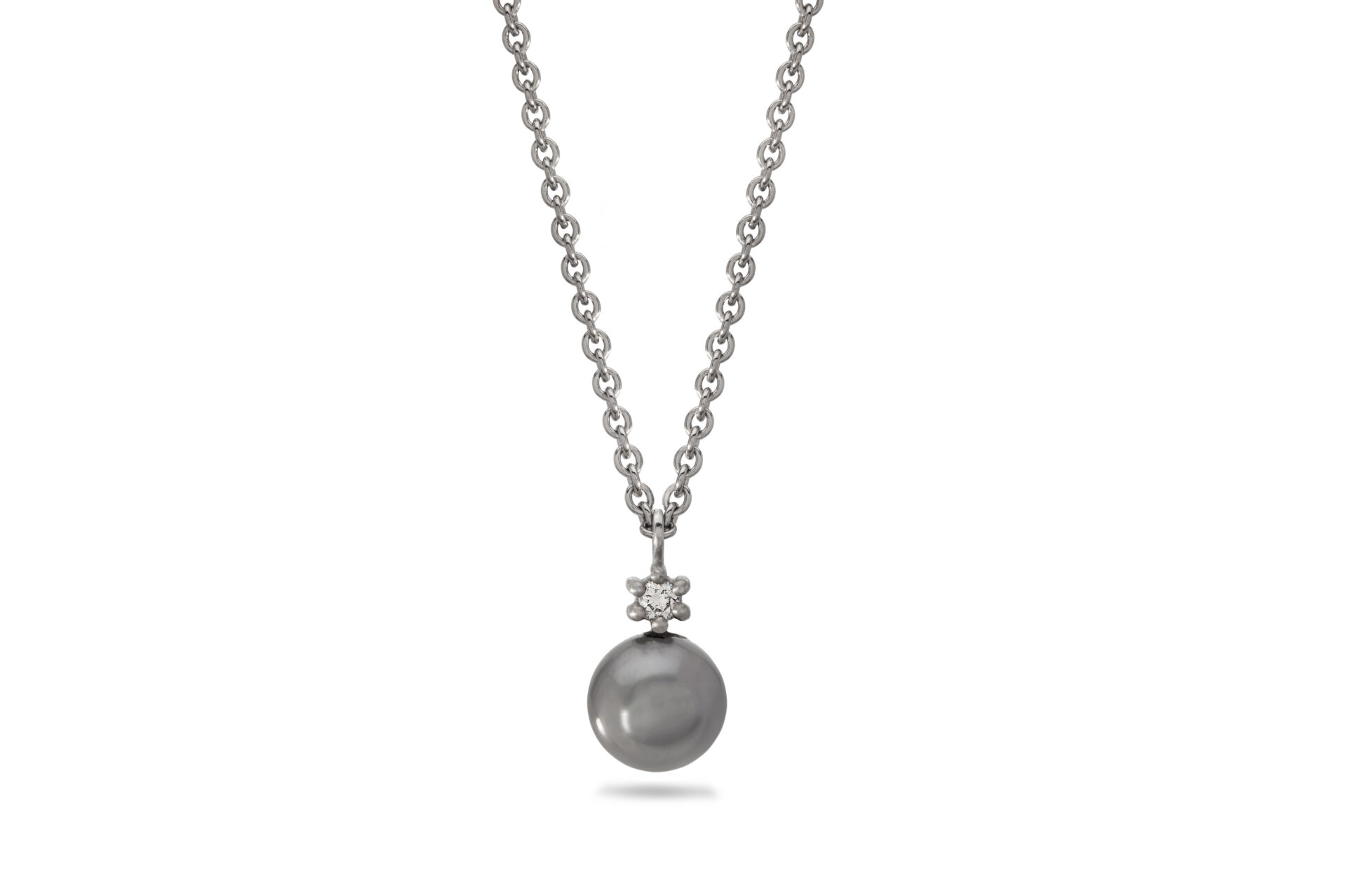 Dreamer Tahitian Pearl and Diamond Pendant