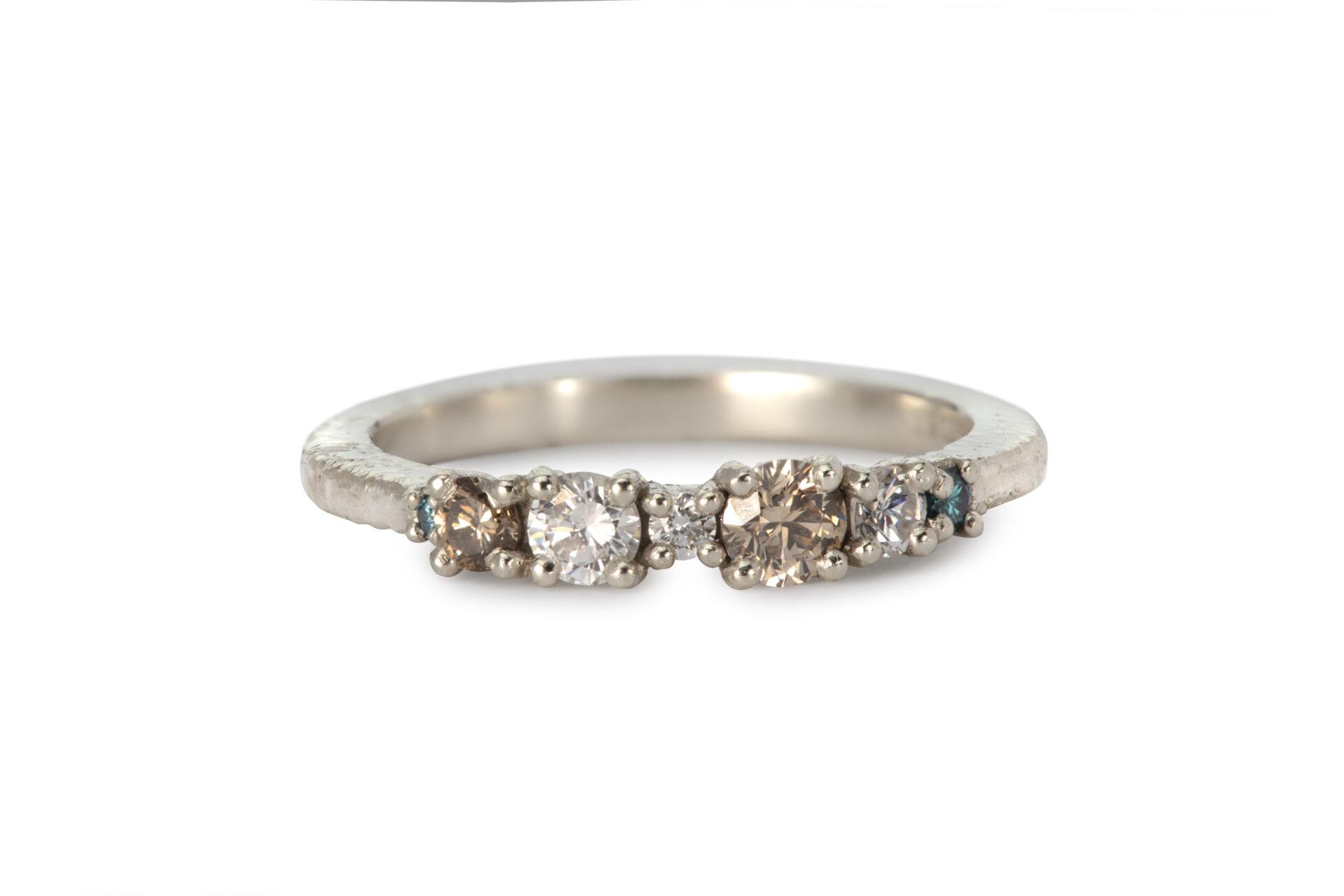 Katrin's Diamond Cluster Ring