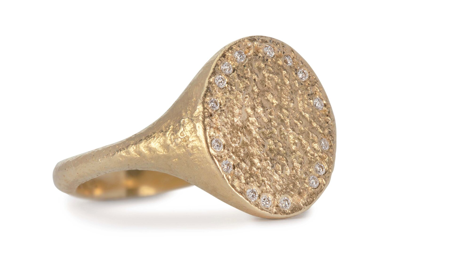 Sylvia Diamond Scattered Signet Ring