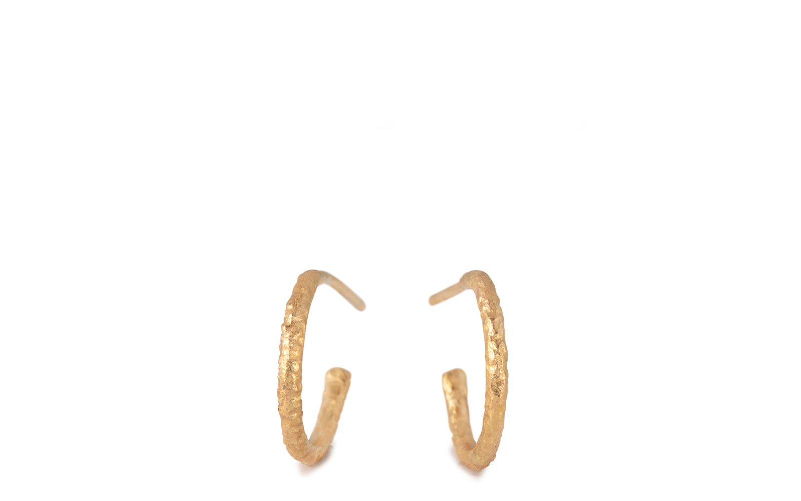 Scattered 18ct Yellow Gold Hoop Earrings 10mm