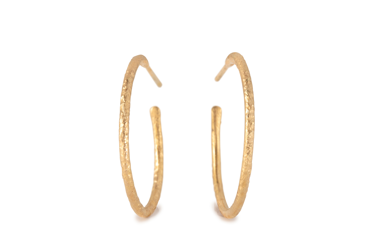 Scattered 18ct Yellow Gold Hoop Earrings 20mm