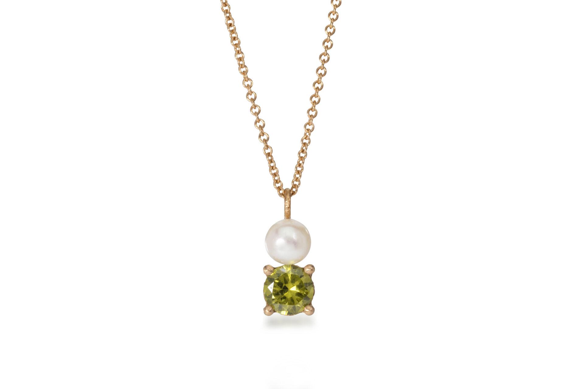 Emma's Peridot and Pearl Pendant