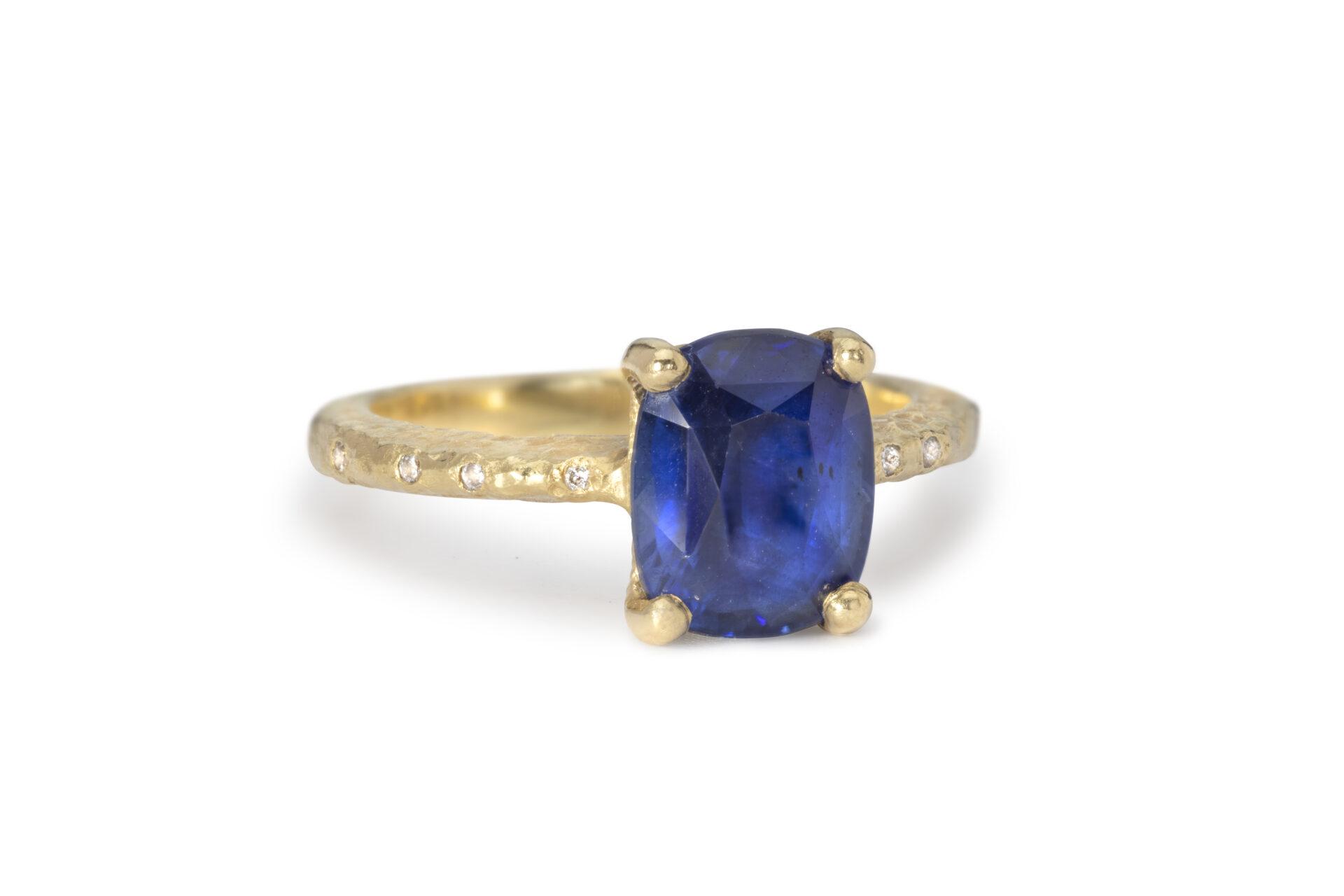 Maya's Cushion Cut Sapphire Ring