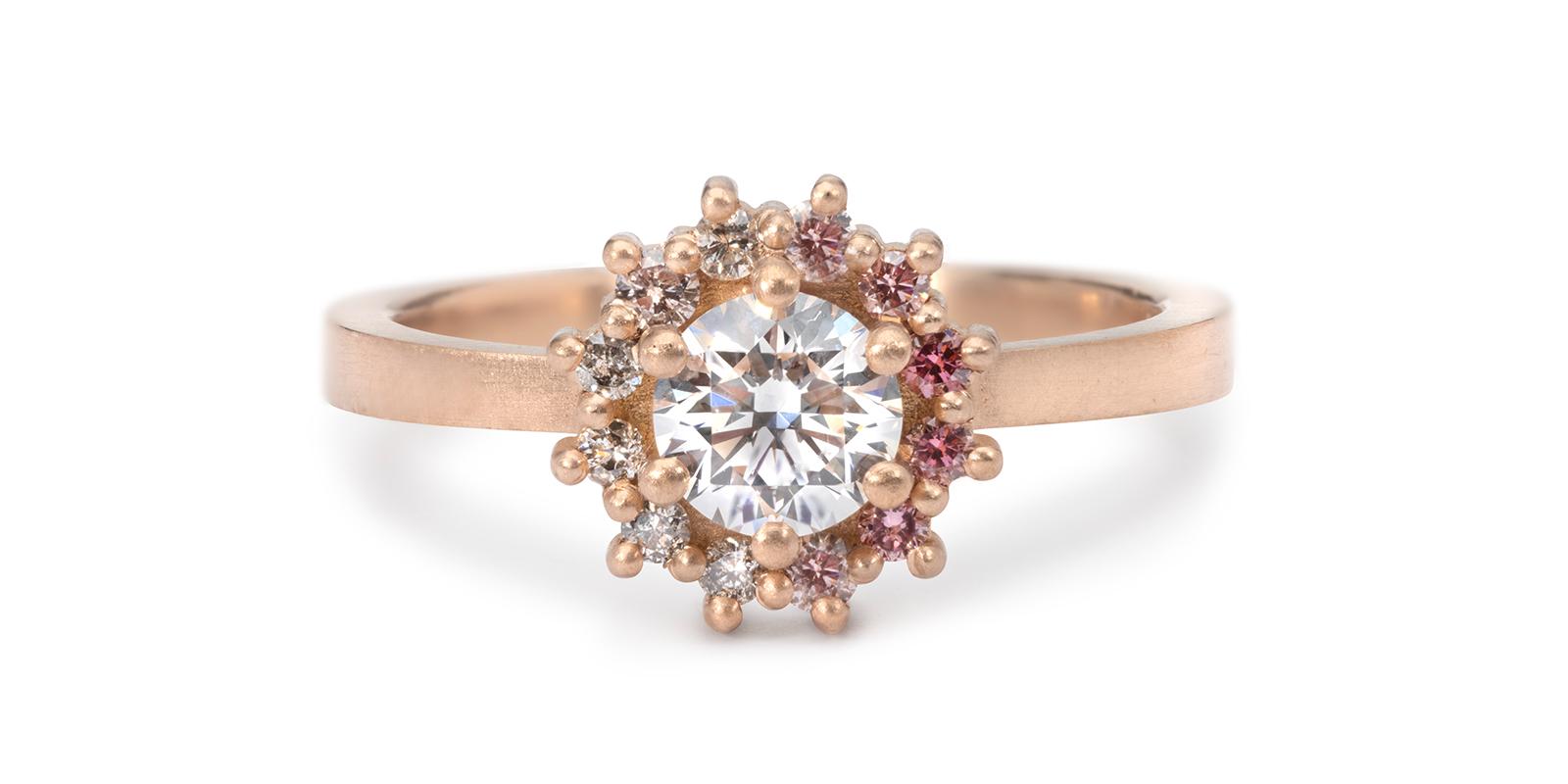 Juliet Diamond Colour Fade Engagement Ring