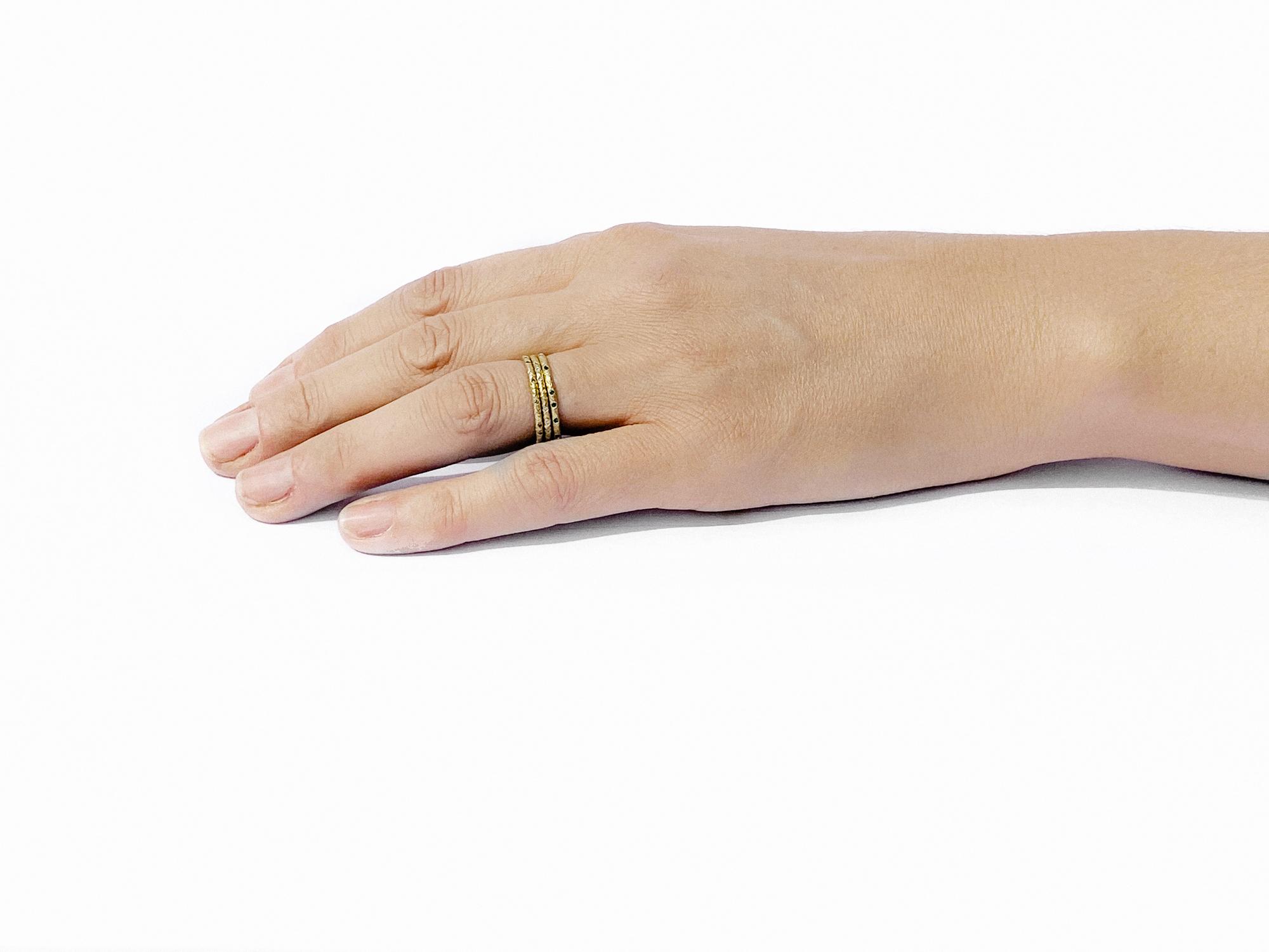 White Diamond Scattered 18ct Gold Eternity Ring 1.5mm