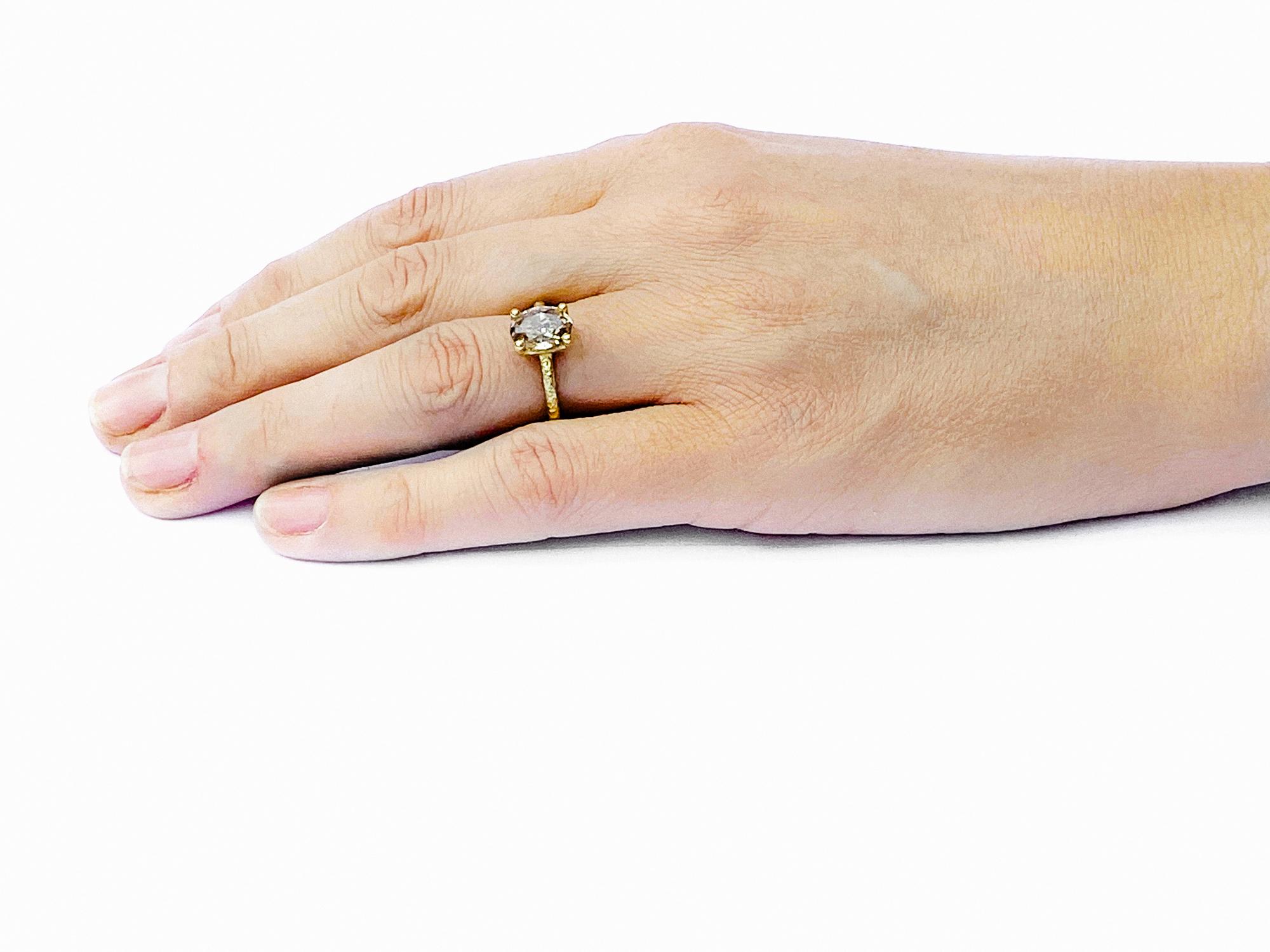 Victoria Oval Coloured Diamond Solitaire Ring 2.33ct