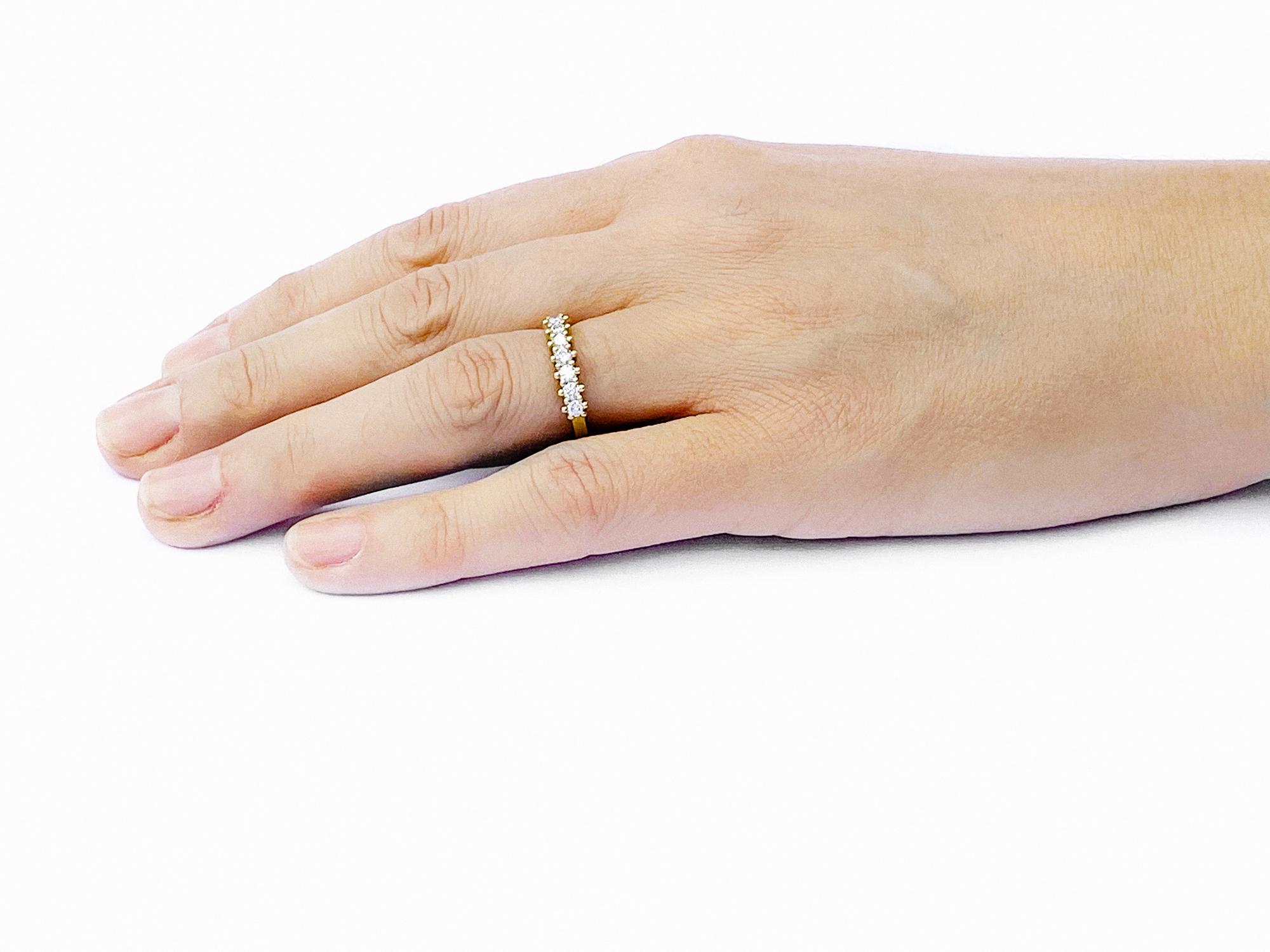 Jasmine White Diamond 18ct Gold Half Eternity Ring