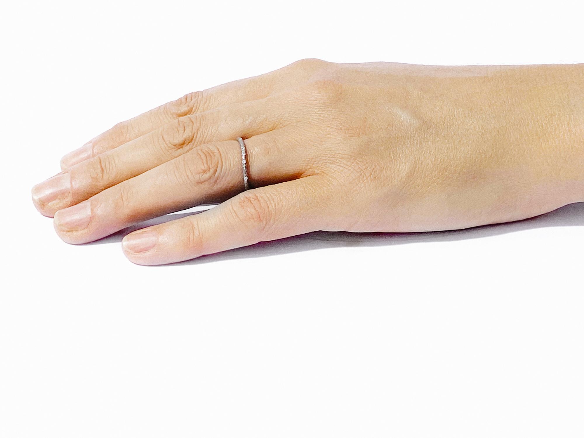 Diamond Scattered Gold Eternity Ring 1.5mm