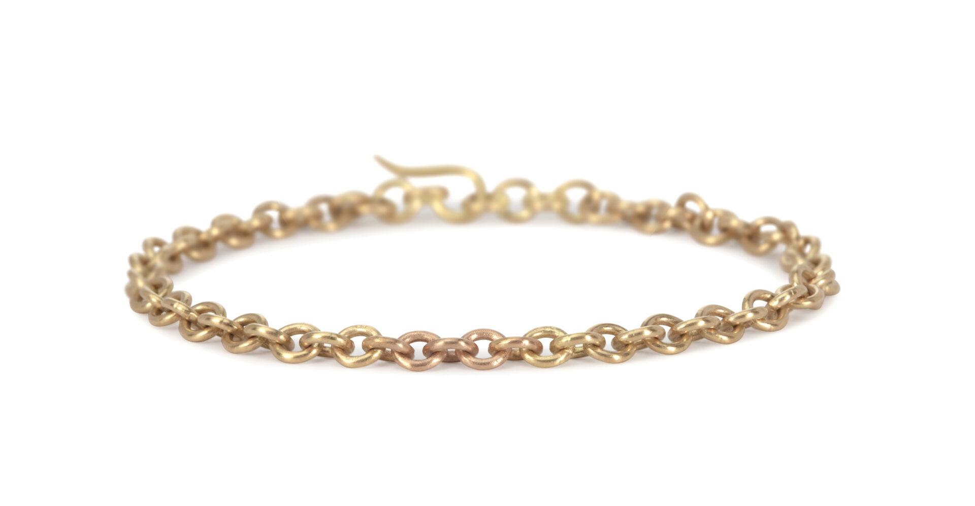 Linked 18ct Yellow & Rose Gold  Bracelet