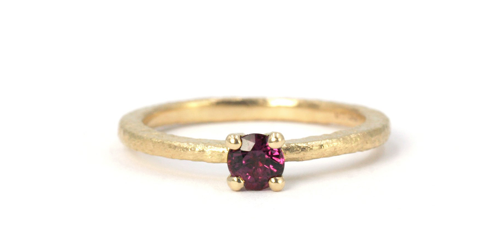 Una Ruby Solitaire Ring