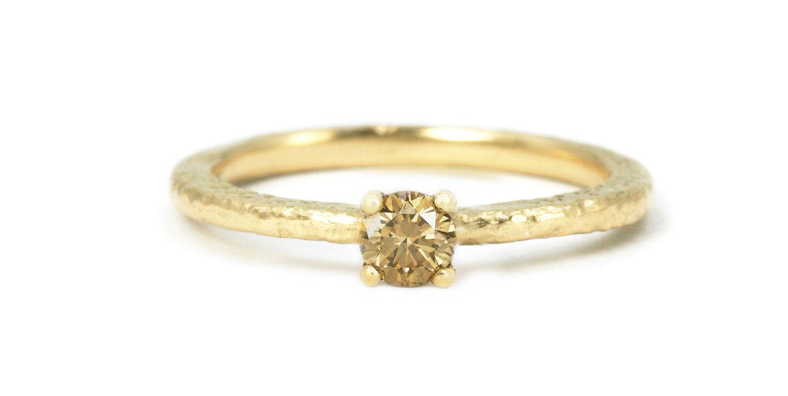 Una Coloured Diamond Solitaire Ring .25ct