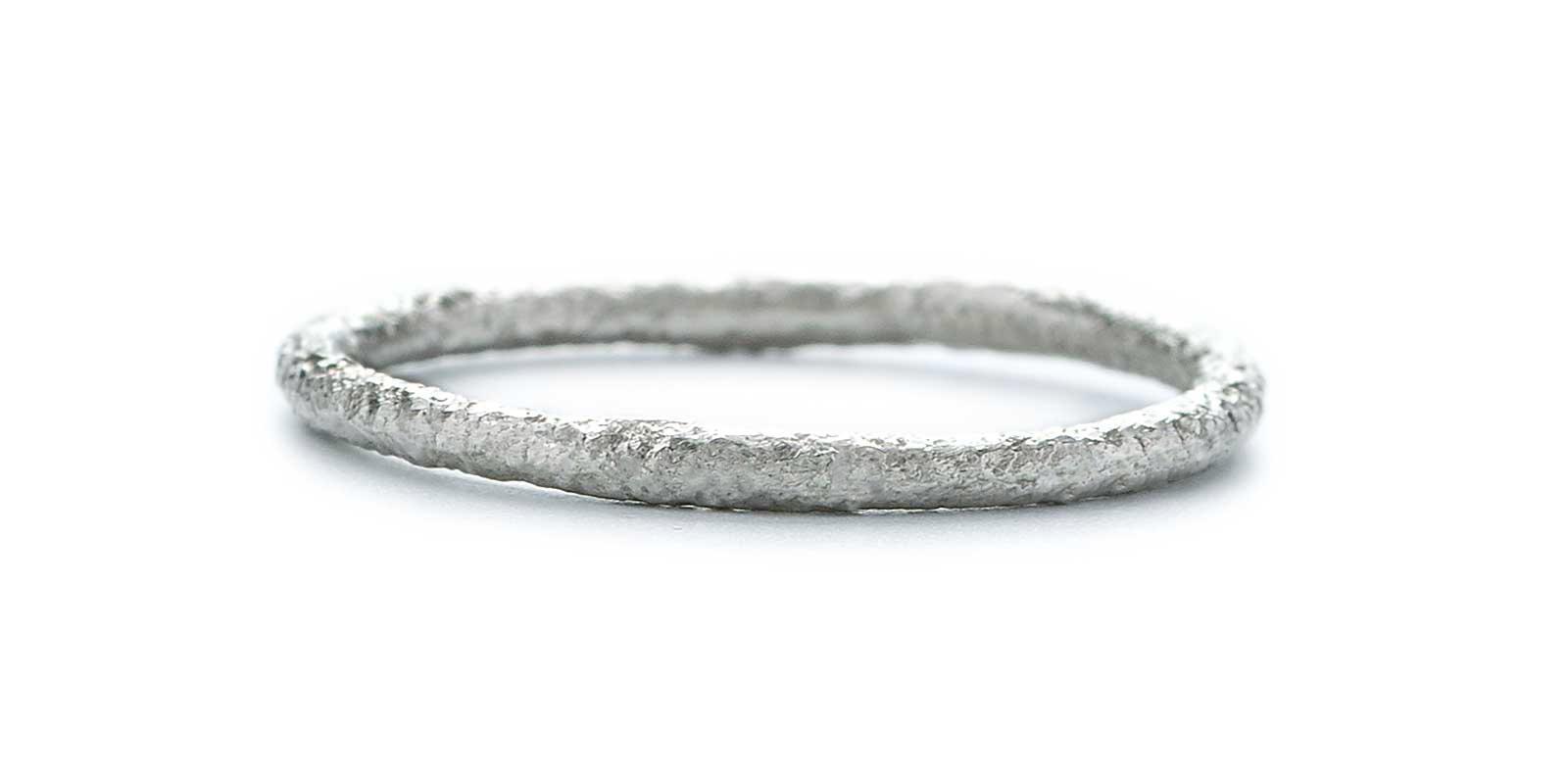 Scattered Platinum Wedding Ring 1.5mm
