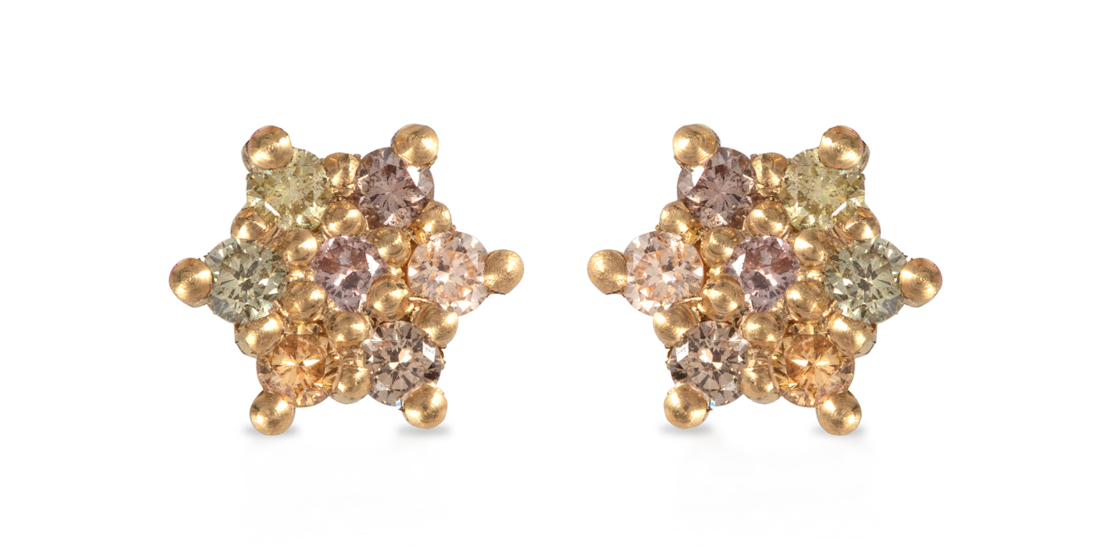 Dancing Star Diamond Stud Earrings