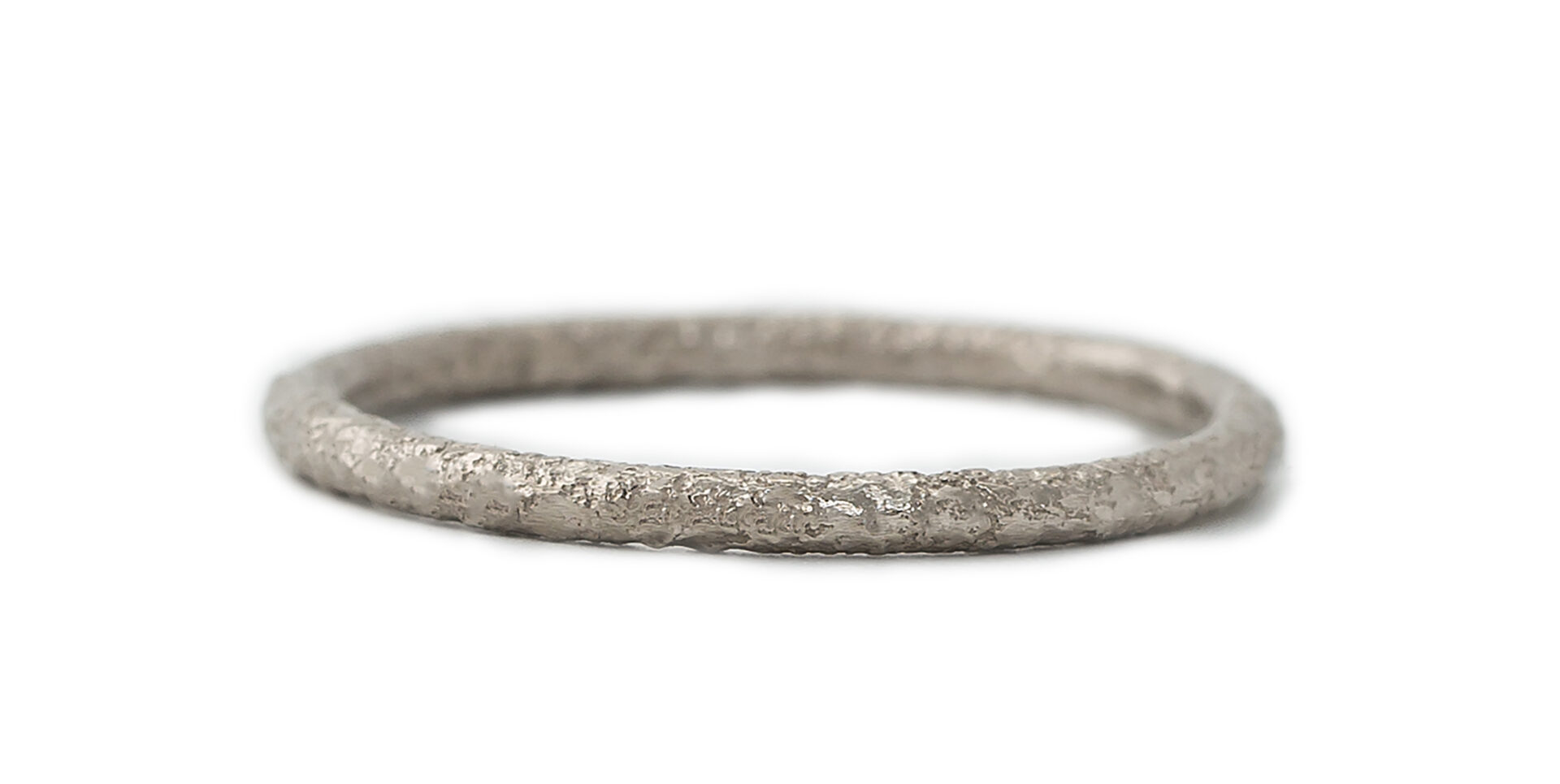 Scattered 18ct White Gold Wedding Ring 1.5mm