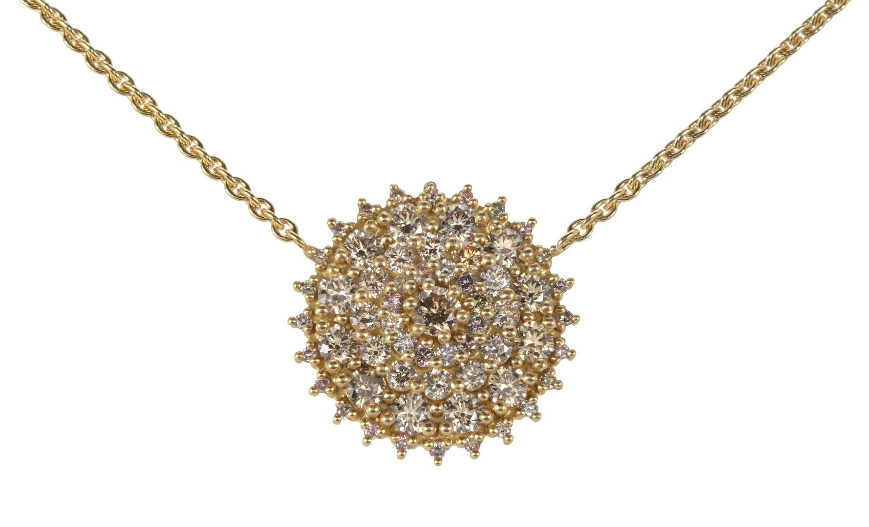 Chandelier Gold and Diamond Necklace