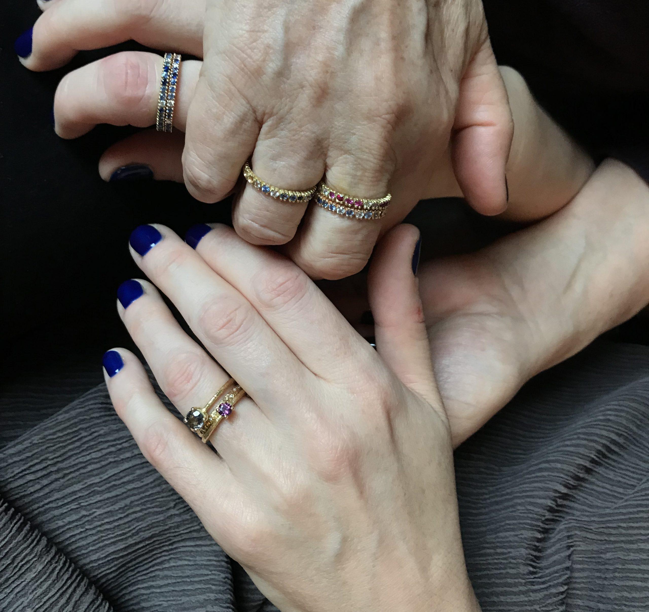 Sapphire and Diamond Eternity Ring