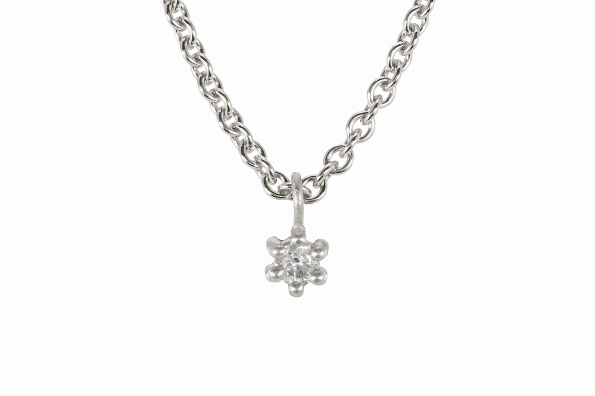 Spring Diamond Platinum Pendant